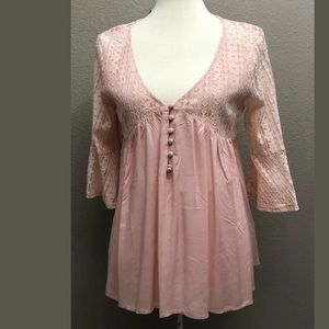 EE:Some women's Lace 3/4 Sleeve Blouse